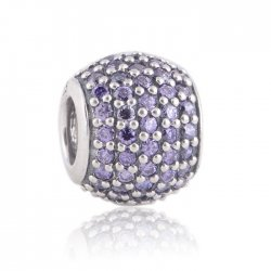 Фото бусины PANDORA  PAVE светло-розовая (Authentic)