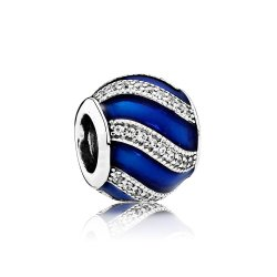 Шарм Пандора  Adornment Transparent Royal-Blue