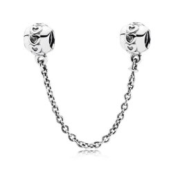 Hearts silver safety chain Пандора