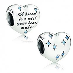 Бусина Пандора Disney, Cinderella's Dream Charm, Fancy Light Blue CZ 791593CFL
