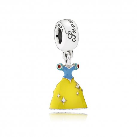 Кулон Пандора Disney, Snow White's Dress Dangle Charm, Mixed Enamel 791579ENMX