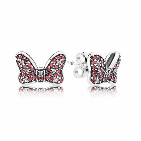 Сережки ПАНДОРА Disney, Minnie's Sparkling Bow Stud 290578CZR