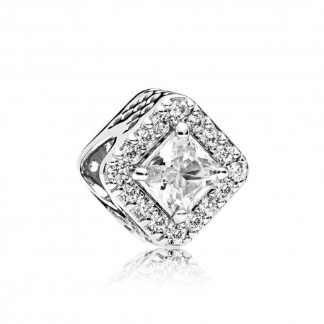 Шарм Геометрия- Geometric Radiance Charm, Clear CZ Item #796206CZ